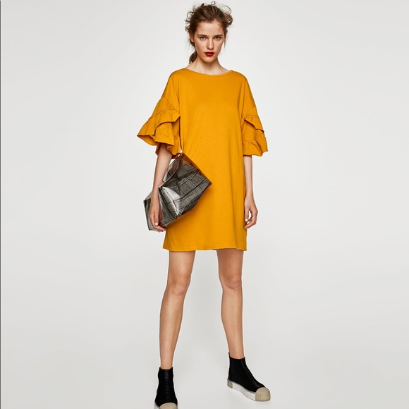 Yellow Dresses with Sleeves for Women